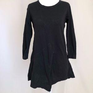 Black WILT Shirt Tunic 3/4 Sleeve XS